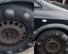 """Pneu com 13 bolhas bate """"recorde"""", e motorista é parado por policiais"""