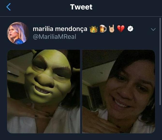 Marília Mendonça se compara ao Shrek devido inchaço da gravidez  - Imagem 2