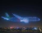 """Na China, 800 drones formam """"avião fantasma"""" em festival"""