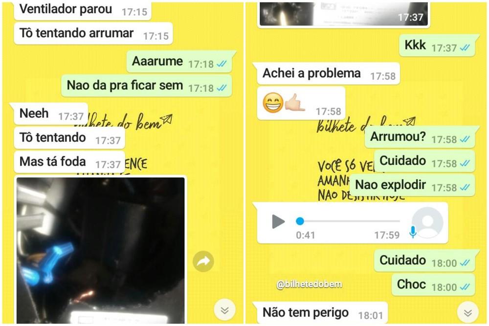 Jovem tranquilizou namorada pelo WhatsApp antes de morrer eletrocutado - Imagem 1