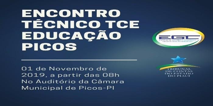 Secretário de Educação de Dom Expedito Lopes  participa do 1º Encontro Técnico TCE Educação - Picos