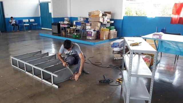 Escola municipal João Belarmino do Vale ganha novas estruturas na biblioteca - Imagem 6