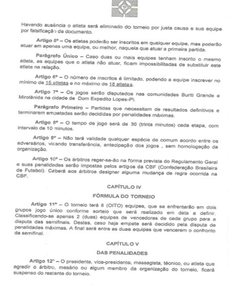 Reunião define programação do I Torneio Municipal de Futebol em Dom Expedito Lopes - Imagem 4