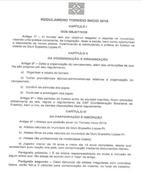 Reunião define programação do I Torneio Municipal de Futebol em Dom Expedito Lopes - Imagem 3