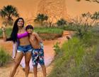 """Aline Riscado curte viagem ao Jalapão com filho: """"Que energia"""""""
