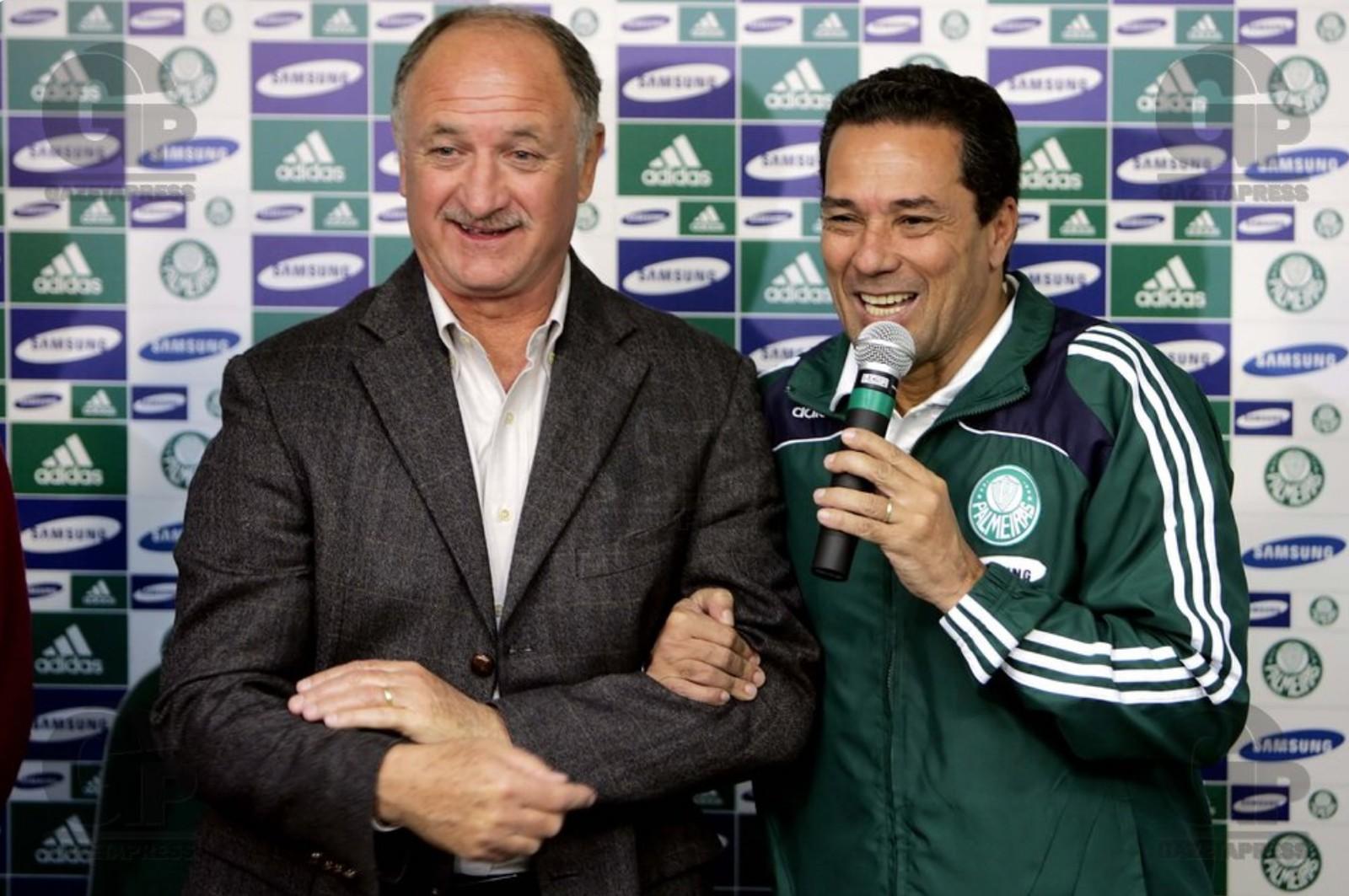 Luiz Felipe Scolari visita Luxemburgo no Palmeiras, em 2008 — Foto: GloboEsporte.com