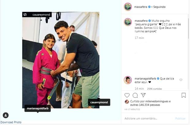 """Massafera reposta foto de Cauã Reymond com a filha: """"Pai e mãe babões"""" - Imagem 2"""