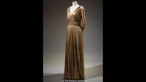 Vestido de seda metalizado da House of Paquin