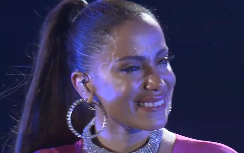 Anitta recria show do Rock in Rio em apresentação gratuita e chora - Imagem 1