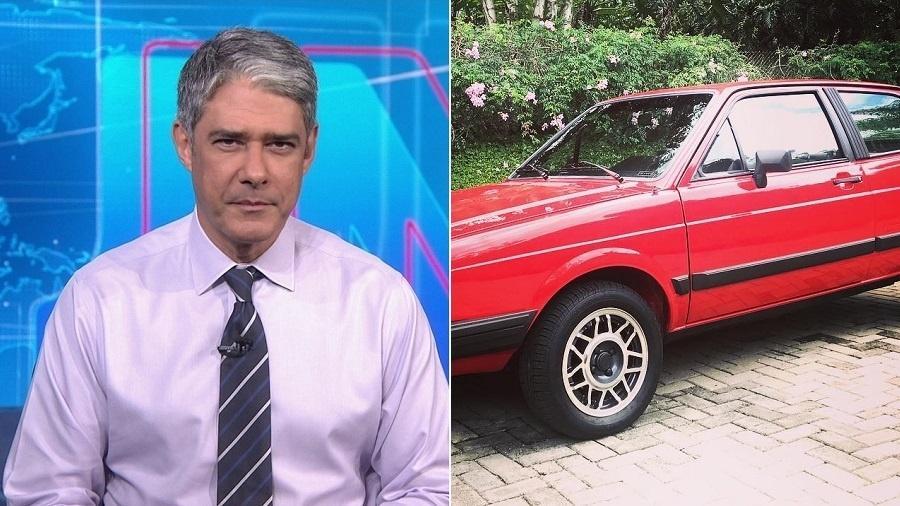 Em rede social, William Bonner exibe seu Volkswagen Gol GT de 1986