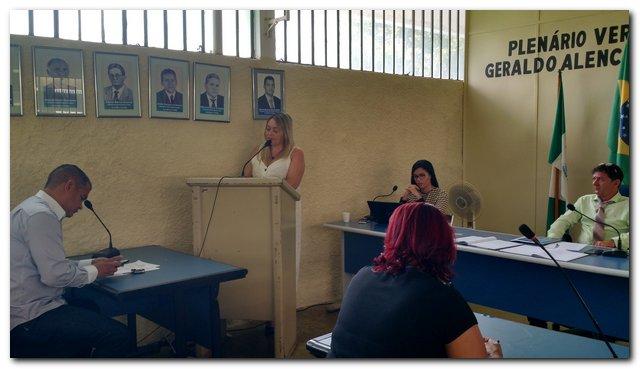 Secretária participa de abertura dos trabalhos do Legislativo