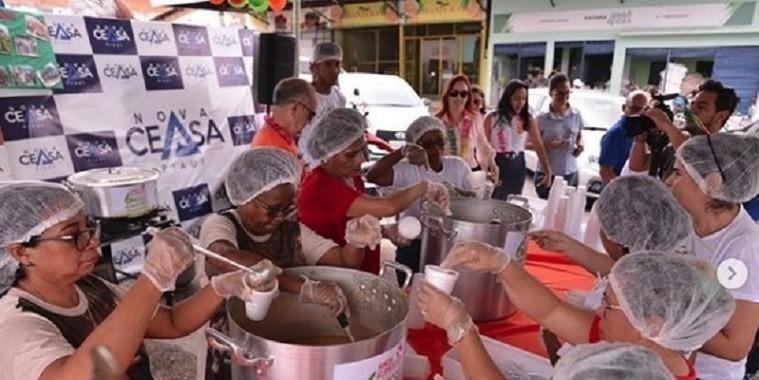 Banco de Alimentos da Nova Ceasa beneficia 5000 pessoas diariamente