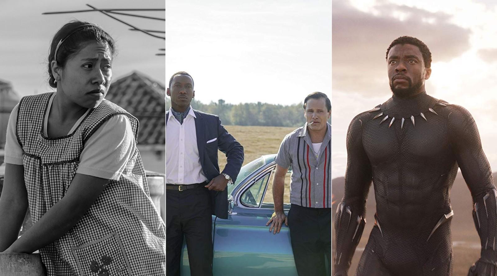 """""""Roma"""", """"Green Book"""" e """"Pantera Negra"""" disputam o Oscar de melhor filme (Reprodução/G1)"""