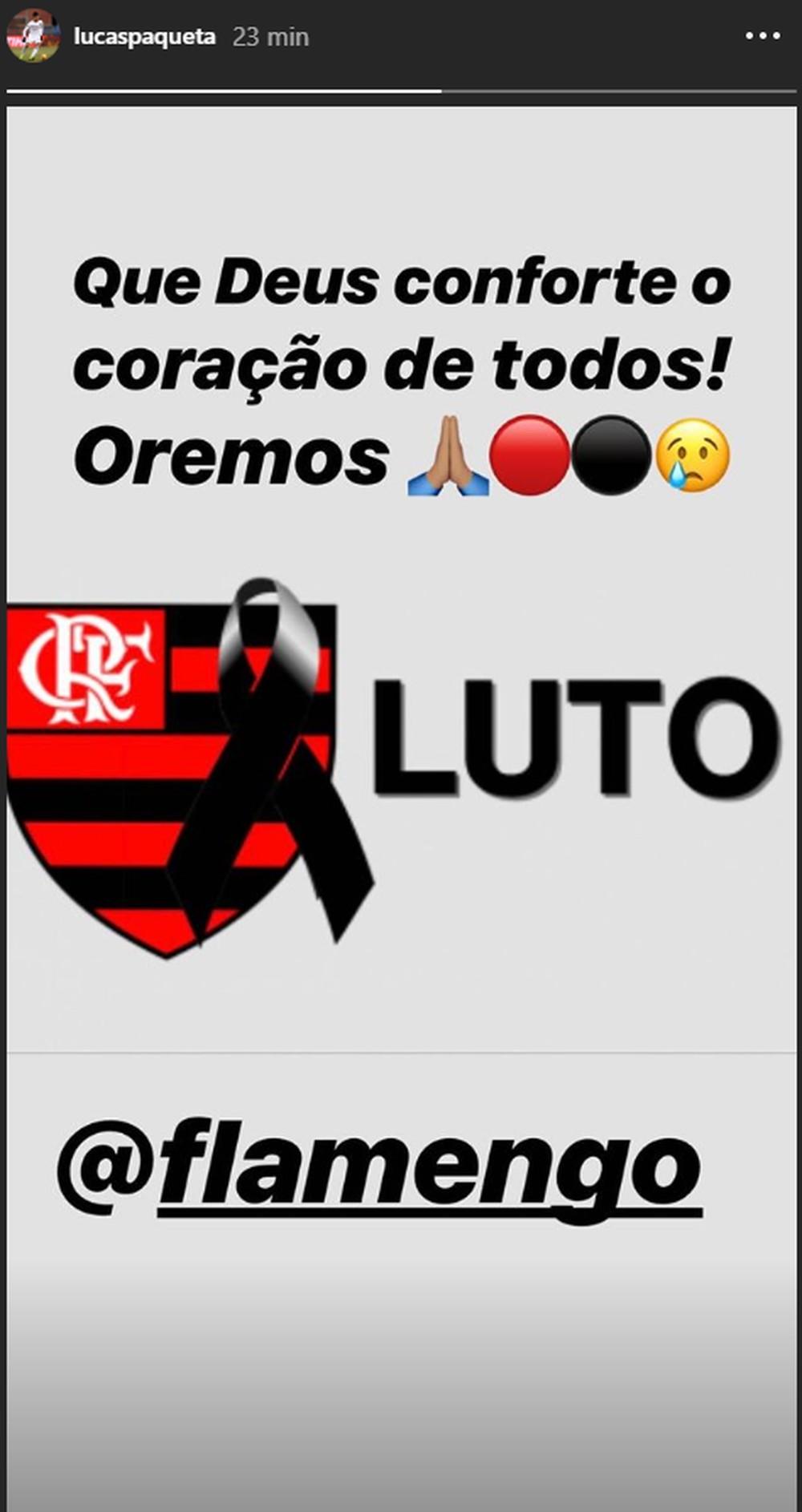 Crias do Flamengo, Vinicius Junior e Lucas Paquetá lamentam tragédia - Imagem 1