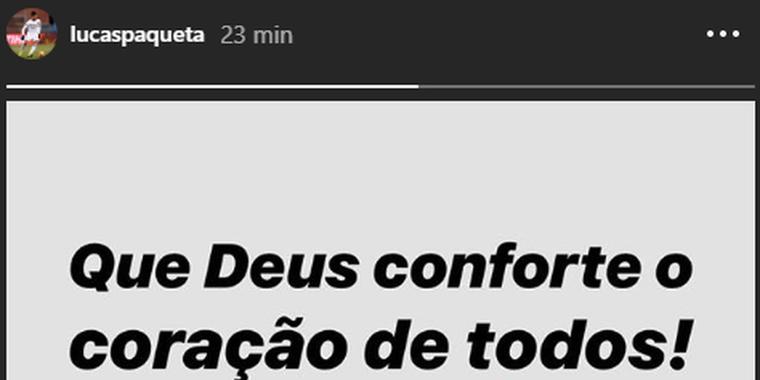 Crias do Flamengo, Vinicius Junior e Lucas Paquetá lamentam tragédia