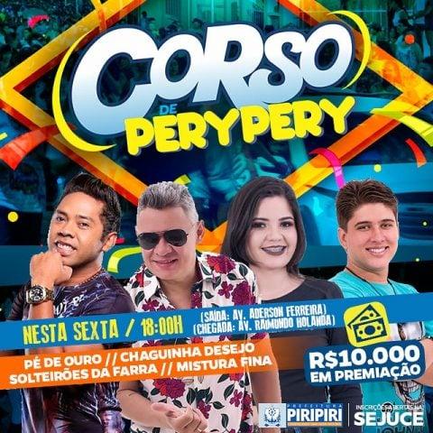 Veja as atrações do Corso 2019 em Piripiri