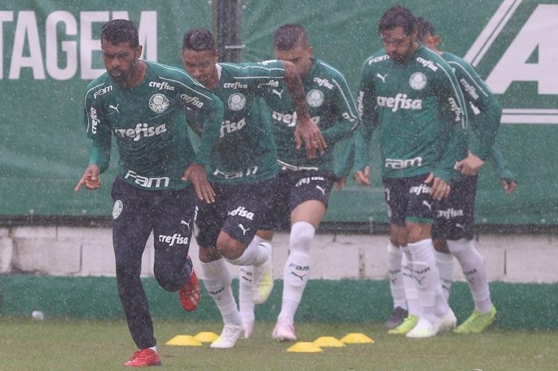 Ataque do Palmeiras será puxado por Tiago Santos. Imagem: Divulgação Palmeiras