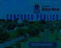 Concurso Prefeitura de Balsa Nova - PR