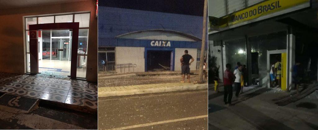 Quadrilha fortemente armada explode dois bancos em Campo Maior - Imagem 1