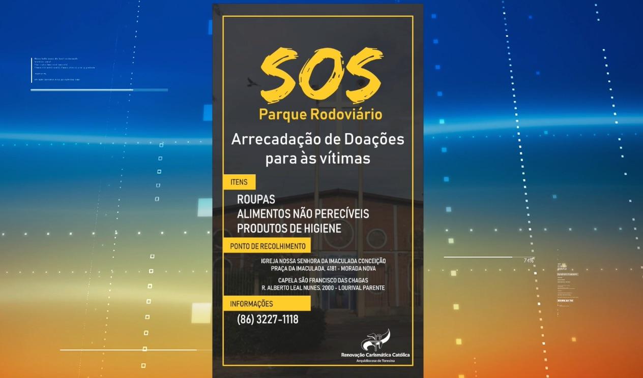 Campanha arrecada doações para vítimas de enxurrada na zona Sul de THE - Imagem 1
