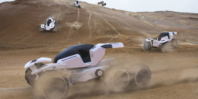 Startup desenvolve carro autônomo de resgate com 6 rodas