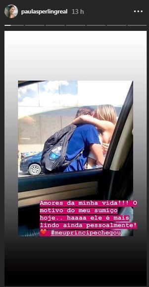 """Paula reencontra e beija seu """"príncipe"""" pela primeira vez após reality - Imagem 1"""
