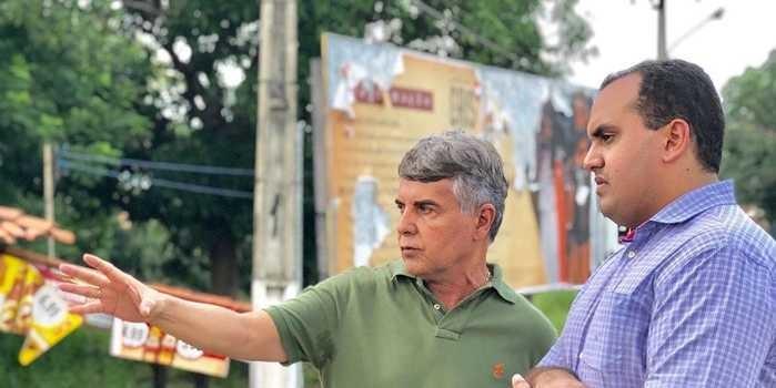 Obras da construção da ponte é tema de visita do deputado Georgiano Neto em Monsenhor Gil