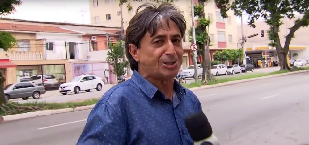 O repórter Gérson de Souza, que foi afastado pela Record após denúncias de assédio sexual