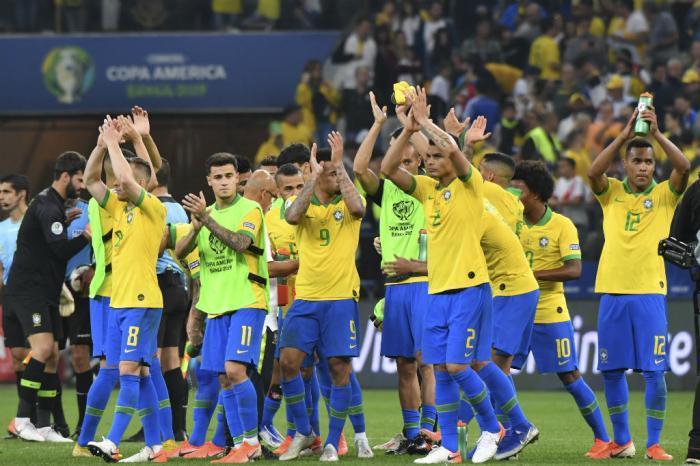 Seleção Brasileira fez a 2ª melhor campanha da fase de grupos da Copa América. Foto: Nelson Almeida / AFP