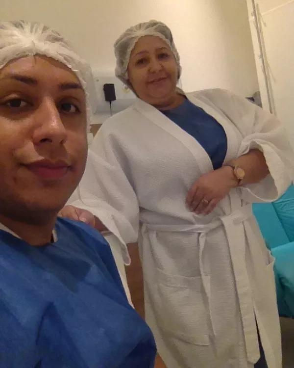 Valdira e Marcelo durante o processo do tratamento  (Foto: Reprodução Instagram)