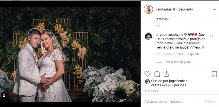 Bruna Marquezine parabeniza ex de Neymar pelo casamento - Imagem 1