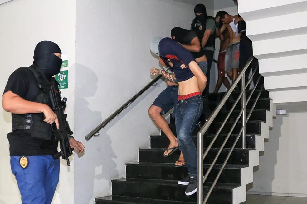 """Chefe de facção membro da """"Sociedade do Anel"""" é preso no Nordeste — Foto: Kid Júnior/G1"""