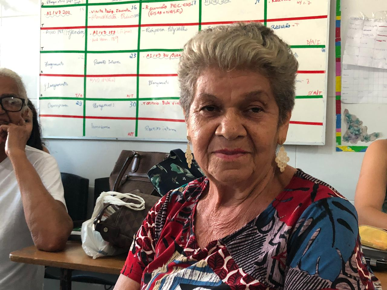 Teresinha Brito,75 anos, lembra a lenda do Cabeça de Cuia