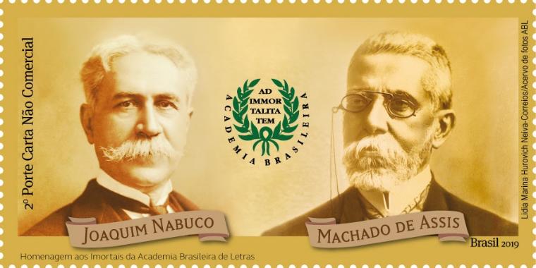 Machado de Assis e Joaquim Nabuco são homenageados em selo