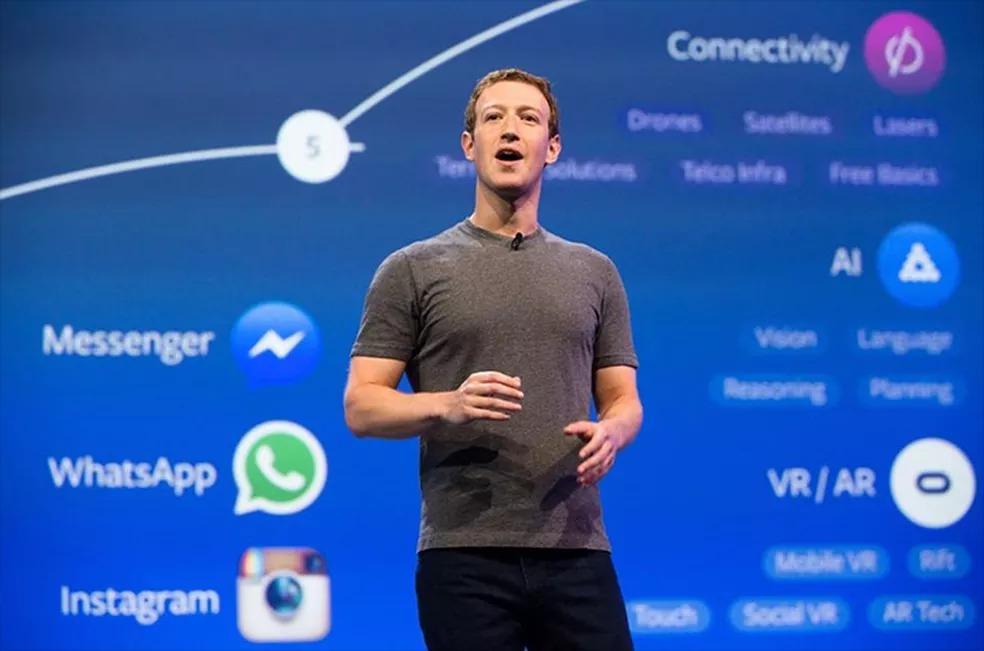 Facebook, empresa de Mark Zuckerberg, recebeu maior multa dada até hoje a uma empresa de tecnologia — Foto: Divulgação/Facebook