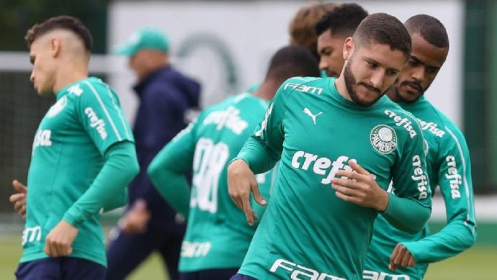 Treino do time do Palmeiras (Divulgação/ César Greco / Ag. Palmeiras) .