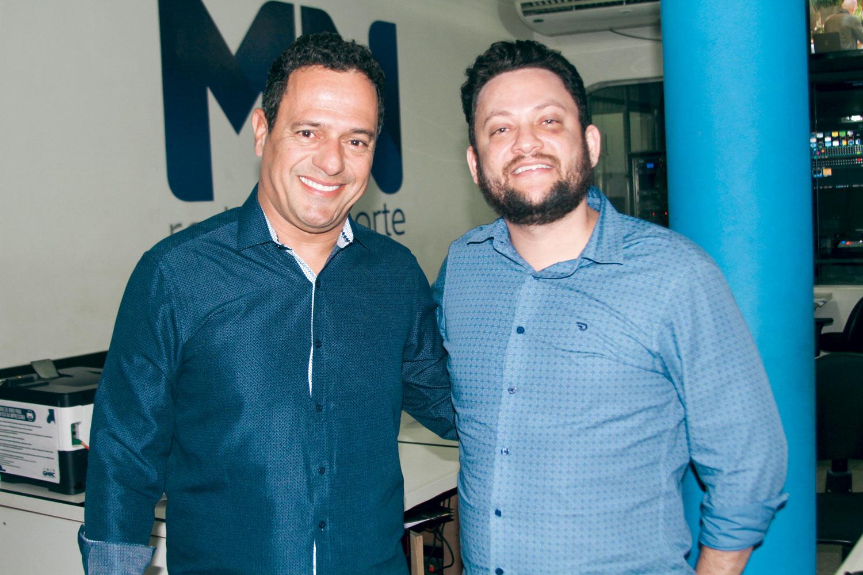 Secretário João Neto, e o diretor da TV Meio Norte Wrias Moura (Foto: Magal)
