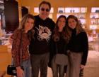 Filhas de Silvio Santos se encontram com Faustão em loja de luxo