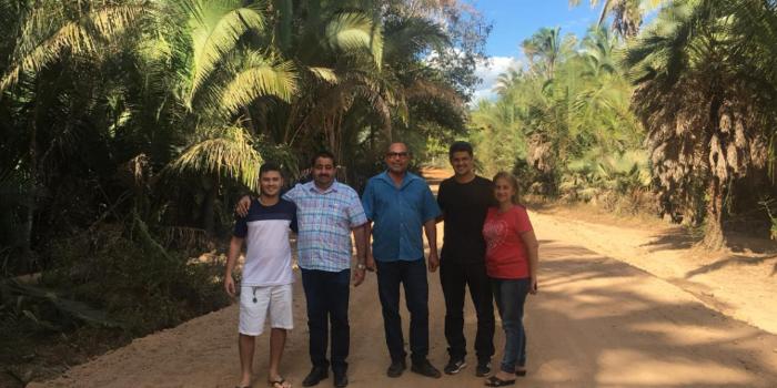 Prefeito Antonio Neto visita obra de recuperação de estradas
