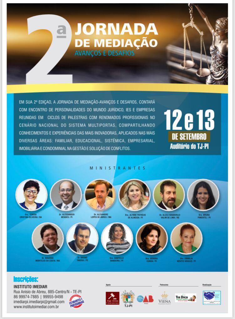 TJ-PI sedia 2ª Jornada de Mediação promovida pelo Instituto Imediar - Imagem 2