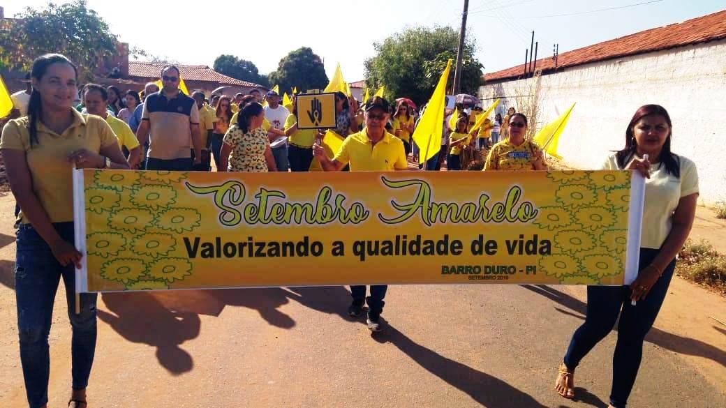 Prefeitura de Barro Duro realiza caminhada pela vida, no Setembro Amarelo - Imagem 1