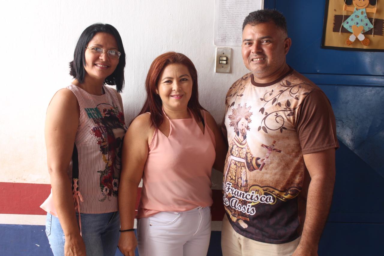 Secretária de Assitência Social, Carmén Lúcia, Presidente do CMDCA, Maria do Livramento (Lili) e Presidente da Comissão Especial, Lustosa