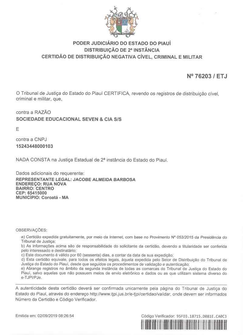 Errata: Dono da Faculdade SEVEN esclarece informações relacionadas a instituição  - Imagem 8