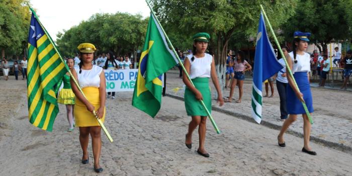 Escolas da zona rural participaram do desfile cívico de 7 de setembro