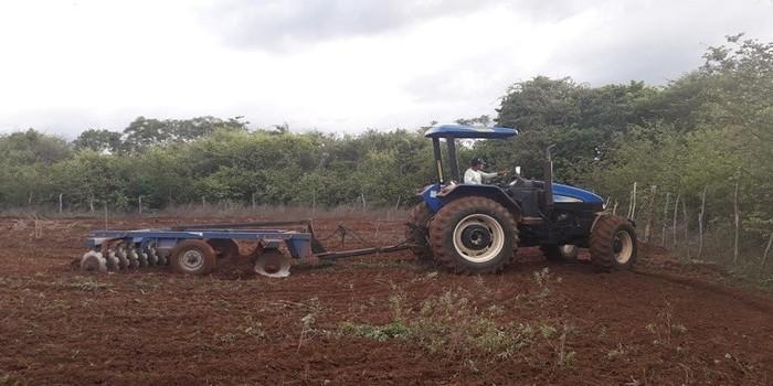 Prefeitura de Pedro II dá apoio aos agricultores da região com orientações, acompanhamento e aração de terra