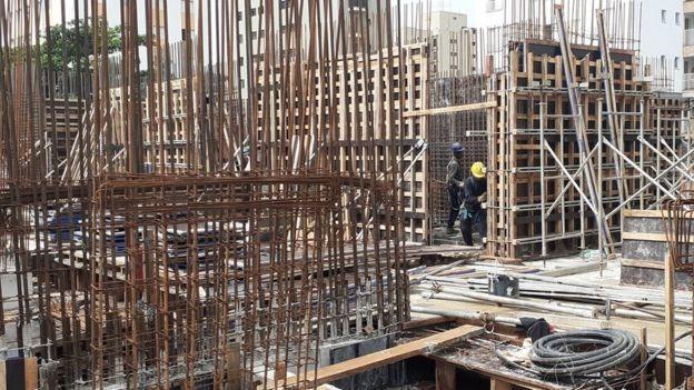 Construção no bairro do Ipiranga