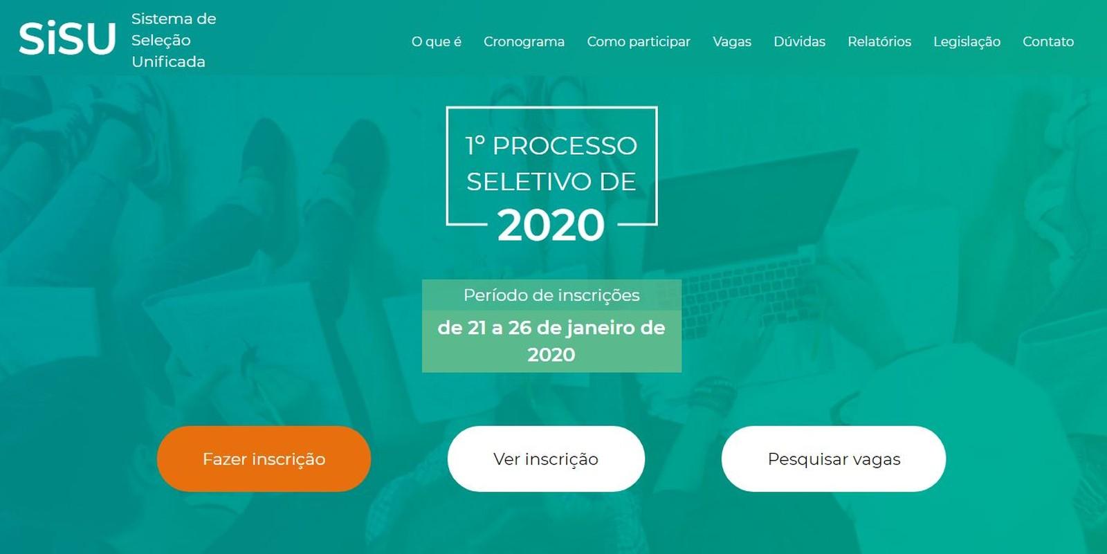 Inscrições do Sisu 2020 são abertas, e estudantes relatam site lento - Imagem 1