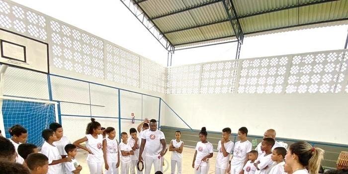 Aluno do grupo de capoeira de Jatobá do Piauí participa de evento de capoeira na cidade de Oeiras -PI