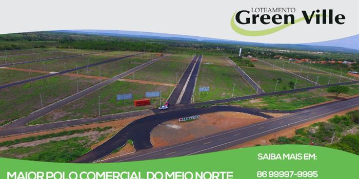 Loteamento Greenville em Água Branca-Pi, apresenta Rede de água, rede de energia e pavimentação asfáltica