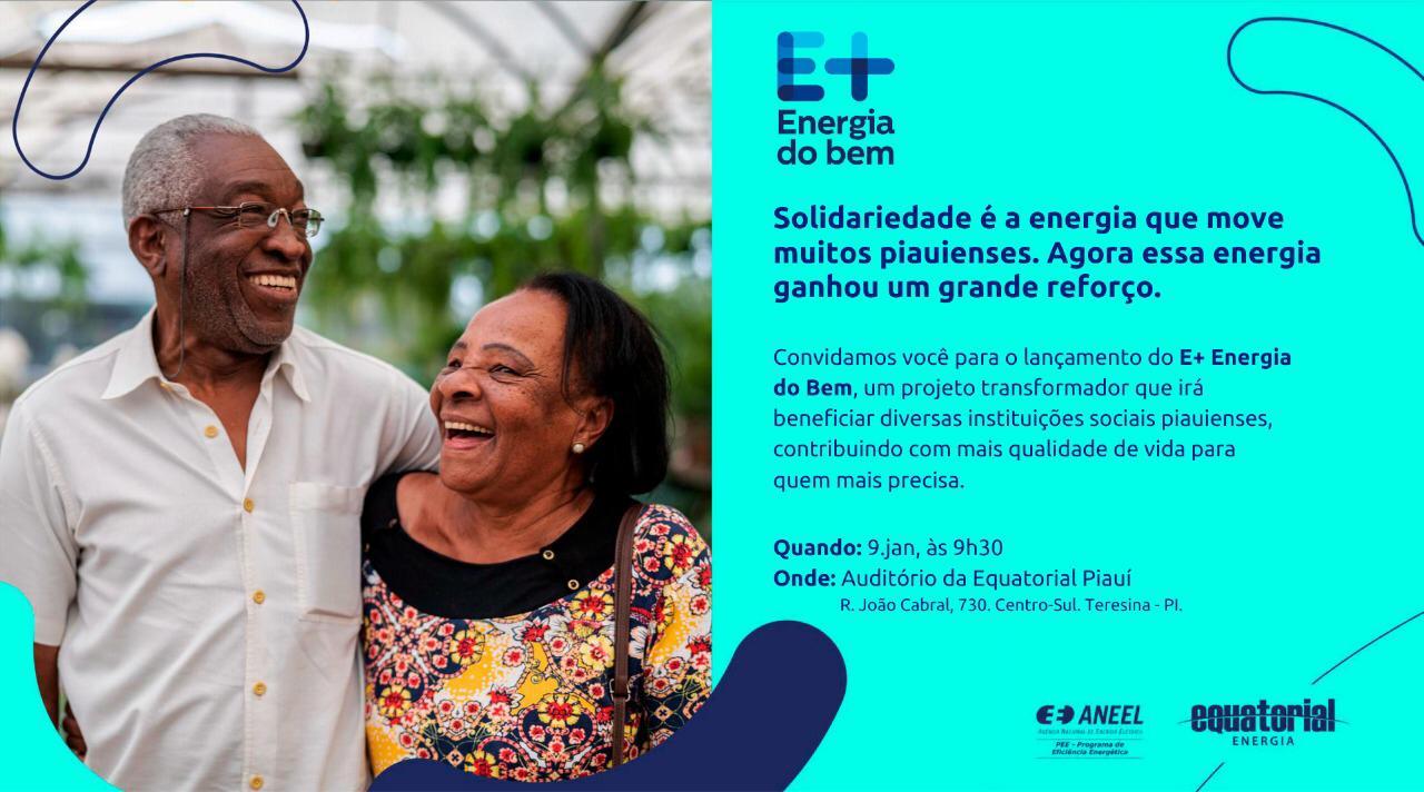 """Equatorial lança projeto """"E+ Energia do Bem"""" para ajudar instituições - Imagem 1"""